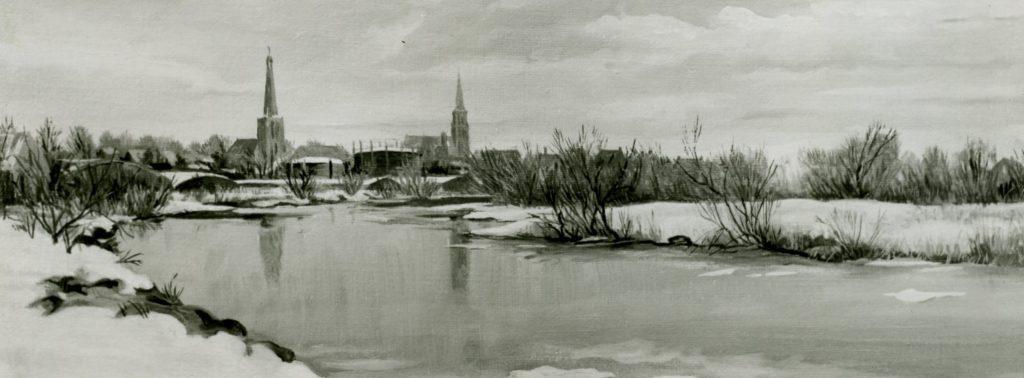 Zicht op de stad Doetinchem vanaf de Oude IJssel