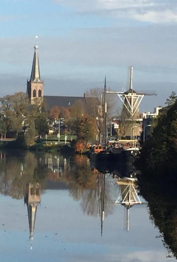 Oude IJssel met zicht op centrum Doetinchem