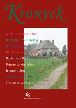 Omslag Kronyck 165