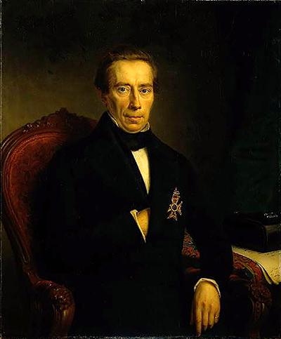 Portret van Thorbecke uit 1852