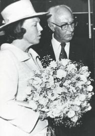 Frans Ernst met Prinses Beatrix van Oranje