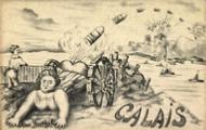 Illustratie van de Dikke Bertha's