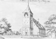 Kerk in Zelhem, illustratie uit 1847