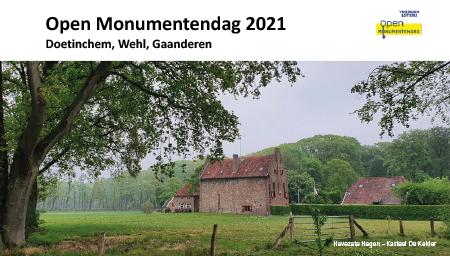 Open Monumentendag 2021 Doetinchem, Wehl, Gaanderen